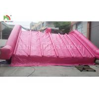 China Garden 0.55 Mm PVC PVC Tarpaulin Inflatable Water Slide For Kids Pink Color Customized on sale