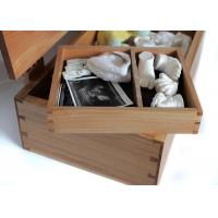 China Natural Color Bamboo Gift Box , Bamboo wood Handmade Gift Box With Hinged Lid wholesale