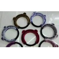China Multi Color Fuzzy Car Steering Wheel Covers 38CM SGS Certification For Car / Truck on sale
