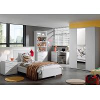 China White Color Childrens Bedroom Furniture Sets High Gloss / Melamine Finished wholesale