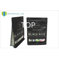 China Black 250g Aluminium Foil Packaging , Reclosable Plastic Bags With Heat Sealing on sale