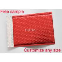 China Any Size Logo Metallic Bubble Mailers 2 Sealing Sides With Light Bubble Linings wholesale