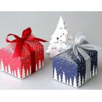 China Customized Food Christmas Packaging Boxes White Card Paper With Ribbon wholesale