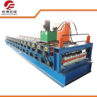 China Double Layer Roof Tile Making Machine , Steel Roofing Sheet Roll Forming Machine on sale
