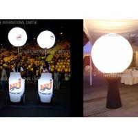 China 1.6m Tripod Moon Crystal Balloon Lighting With 200W LED For Events Decoration wholesale
