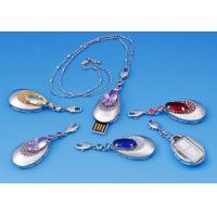 OEM Notebook Micro Crystal Pendant High Speed Jewelry Usb Flash Drive 512MB Manufactures