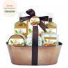 China Mild Body Care Bath Gift Set / Chocolate Bubble Bath Gift Set Willow Basket wholesale