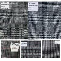 China Plaid Design Prince of Wales Stretch Rayon Polyester Fabrics wholesale