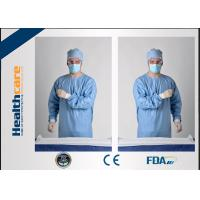 China Blue Disposable Surgical GownsSterile Reinforced Knitted Wrists Gowns ISO CE FDA Approved wholesale