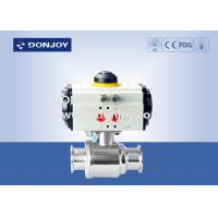 China Horizontal straight way Pnuematic  ball valve with thread Connection wholesale