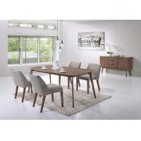 China Veneer Top Unique Modern Dining Table Furniture Solid Wood Leg Multi Colors wholesale