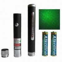 China Green Laser Pointer with Star Caps and 532nm Wavelength wholesale