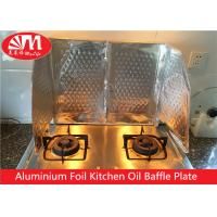 China Kitchen Aluminium Foil Products Oil Baffle Plate Natural Silver Surface Keep Kitchen Clean on sale