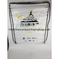 China Cheap Price Drawstring Frosted Recycled Plastic Backpack wholesale