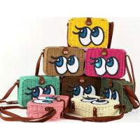 China Women Kids small lovely straw beach shoulder bag, coin purse wholesale