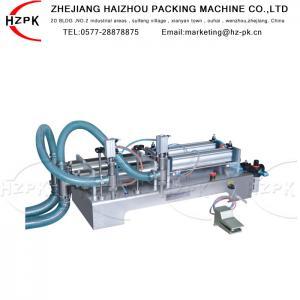 China Antiexplosive Semi Automatic Liquid Filling Machine 300-2500 Ml Range wholesale