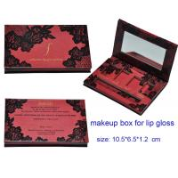 China 4 colors Lip Palette Paper Packaging Boxes with Mirror, Paper Cosmetic Packaging Boxes, Ma wholesale