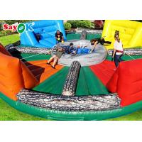 China PVC Tarpalin  Inflatable Sports Games Hungry Hippo Inflatable Bungee Hippo Chow Down on sale