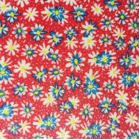 China Glitter Printed Faux Leather Fabric , Vegan Leather By The Yard Red Color wholesale
