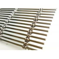 China Cable Rod Woven Decorative Wire Mesh , Stainless Steel Architectural Mesh Panels wholesale
