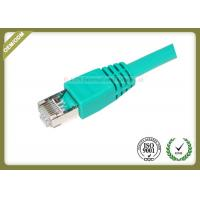 China 4 Pair STP Cat6 Shielded Cable Green Color 550 Mhz Cat6 Patch Leads wholesale