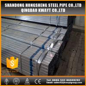 China pre galvanized rectangular tube wholesale