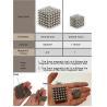 China Kellin Neodymium Magnetic Balls 216 pcs 3mm 5mm Buckyballs Magnetic Cubes wholesale