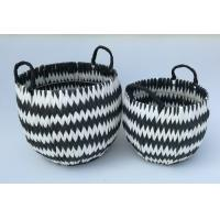 China 100% handwoven S/3 round home storage basket with paper material wholesale