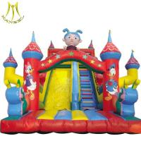 China Hansel Popular inflatable amusement game china inflatable water slide for adults wholesale