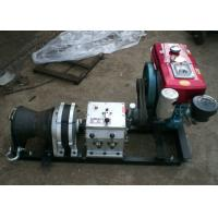 Cable Winch Puller 5 Ton Diesel Engine Fast Speed Winch Belt Driven Manufactures