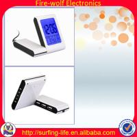 China With 3USB-HUB alarm clock,Charming alarm clock manufacture & factory,Travel clock wholesale
