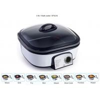 China Glass Cover Electric Multi Cooker 8 IN 1 Copper Wire PP Shell Base Lightweight wholesale