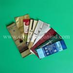 China OEM coffee bags, side-sealed, back-sealed, quad-sealed shape, with valve wholesale
