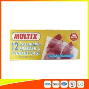 China Supermarket Plastic Freezer Zip Lock Bags / Zip Seal Food Freezer Bags on sale