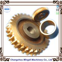Copper Ra 0.4 - 0.8 Stepper Motor Single Hellical Worm Gear Parts for Worm Gearbox