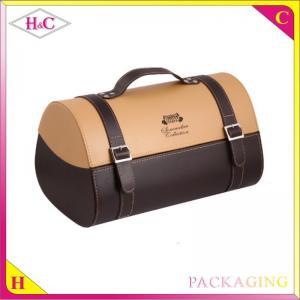 China Luxury handmade 2 bottles pu leather wine gift box wholesale