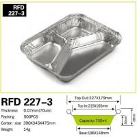 China 3 Compartment Aluminium foil container for Fast Food on sale