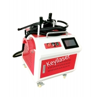 China Handheld Fiber Laser Cleaning Machine For Rust Removal With 100W Raycus wholesale