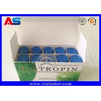 China Custom Medication Pill Box / Pharmaceutical Packaging Box Hgh With Plastic Tray And Paper Inserts wholesale