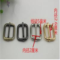 China Hot sales hanging brush anti brass color 26 mm iron adjust square ring adjustable buckle for bags wholesale