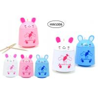 China TOOTHPICKS DISPENSER - BUNNY DESIGN - 3 DIFFERENT COLORS wholesale