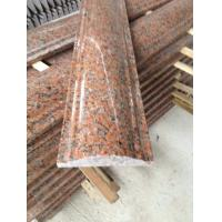 China Maple Leaf Red Granite Staircase Handrail, Crown Red Granite Balustrade, China Capao Bonito Granite Banisters wholesale