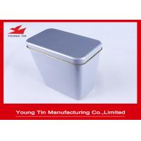 China Blank Metal Tea Tins With Hinged Lids , Tinplate Canister Box 0.23 MM Steel Tinplate wholesale