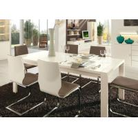 China White Gloss 6 Seater Dining Table , Modern Dining Room Tables Strong Structure wholesale