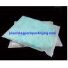 China Reclosable clear matt CPE zip seal bag, resealable slide zip seal garment poly bag wholesale