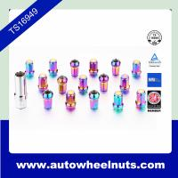 China Colored Chrome / Zinc Wheel Lock Nuts With Key / Hex 19mm Length 32mm wholesale
