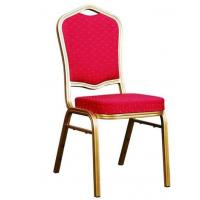 China YLX-6096 Aluminium Golden Banquet Dining Chair for Restaurant 25*25*2.0mm tube wholesale