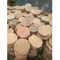 China Pink Sandstone Round Stepping Stones Garden Paving Stone Sandstone Landscaping Patio wholesale