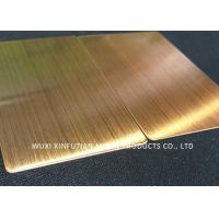 China ASTM Standard 310S Cold Rolled Stainless Steel Sheet Hair Line Customized Packing wholesale