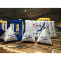 China Triangle Airtight  Inflatable Floating Buoys Water PVC Toys With CE Approved Air Pump wholesale